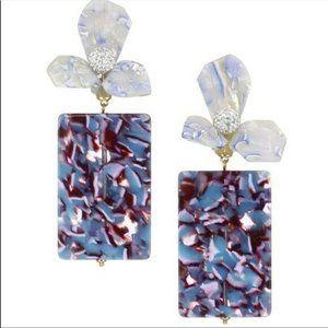 NWT Anthro Lele Sadoughi Purple Floral earrings